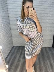 летнее платье в полоску nadya