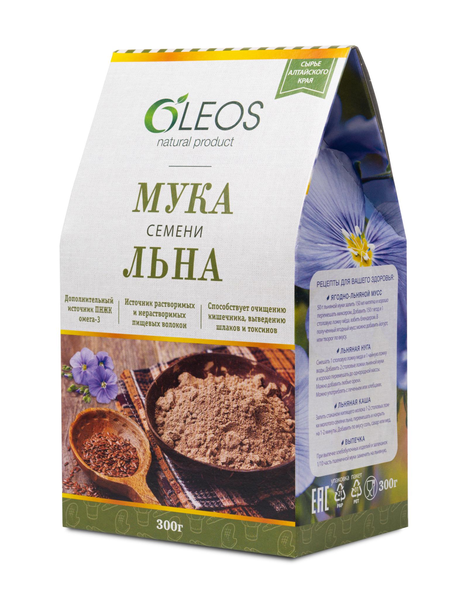 Мука семени льна Oleos