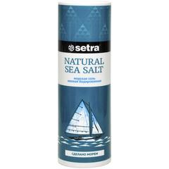 Setra Соль морская мелкая йодированная, 250г