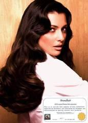 Волосы на заколках цвет  #2A-горький шоколад