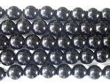 Нить бусин из кварца черного (мориона), шар гладкий 8 мм