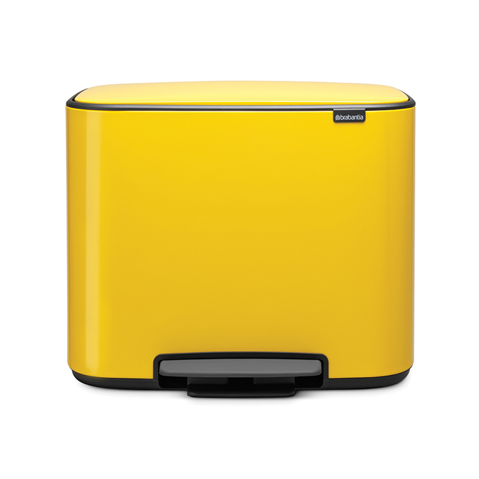 Мусорный бак Bo  (3 x 11 л), Желтая маргаритка, арт. 121043 - фото 1