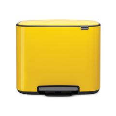 Мусорный бак Bo  (3 x 11 л), Желтая маргаритка