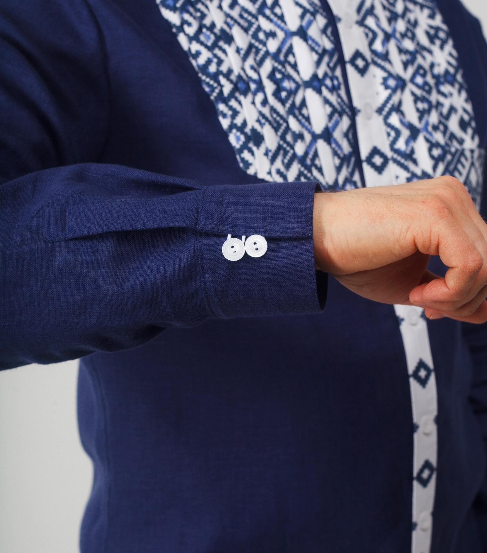 Мужская рубашка Приморская манжеты