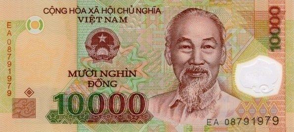 Банкнота 10000 донг 2008 год, Вьетнам. UNC