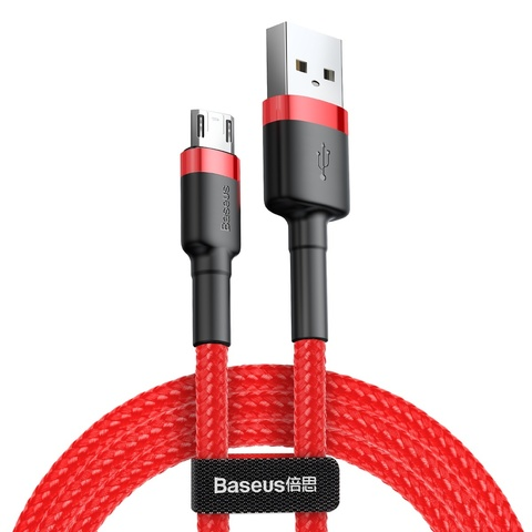 Кабель Baseus cafule Cable USB For Micro 2.4A 0.5M Red+Red