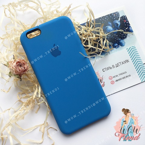 Чехол iPhone 6/6s Silicone Case /royal blue/ ярко-синий original quality