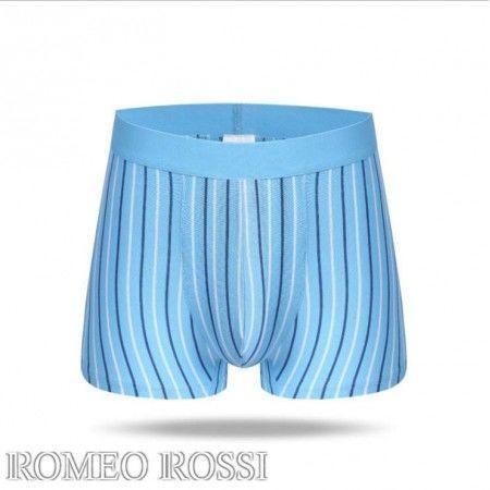 Мужские трусы боксеры голубые Romeo Rossi  RR6003-8