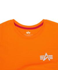 Футболка Alpha Industries Reflective Small Logo Orange  (Оранжевая)