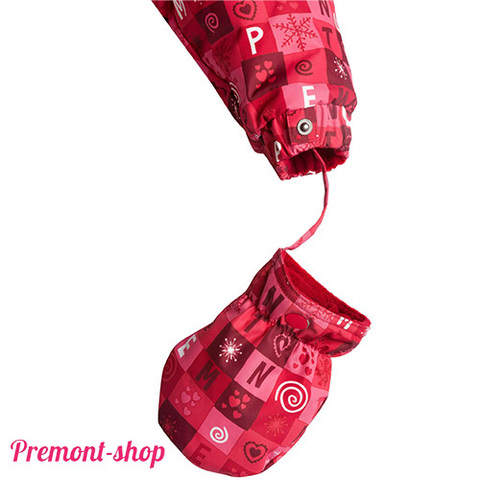Варежка комбинезона Premont Красные льдинки