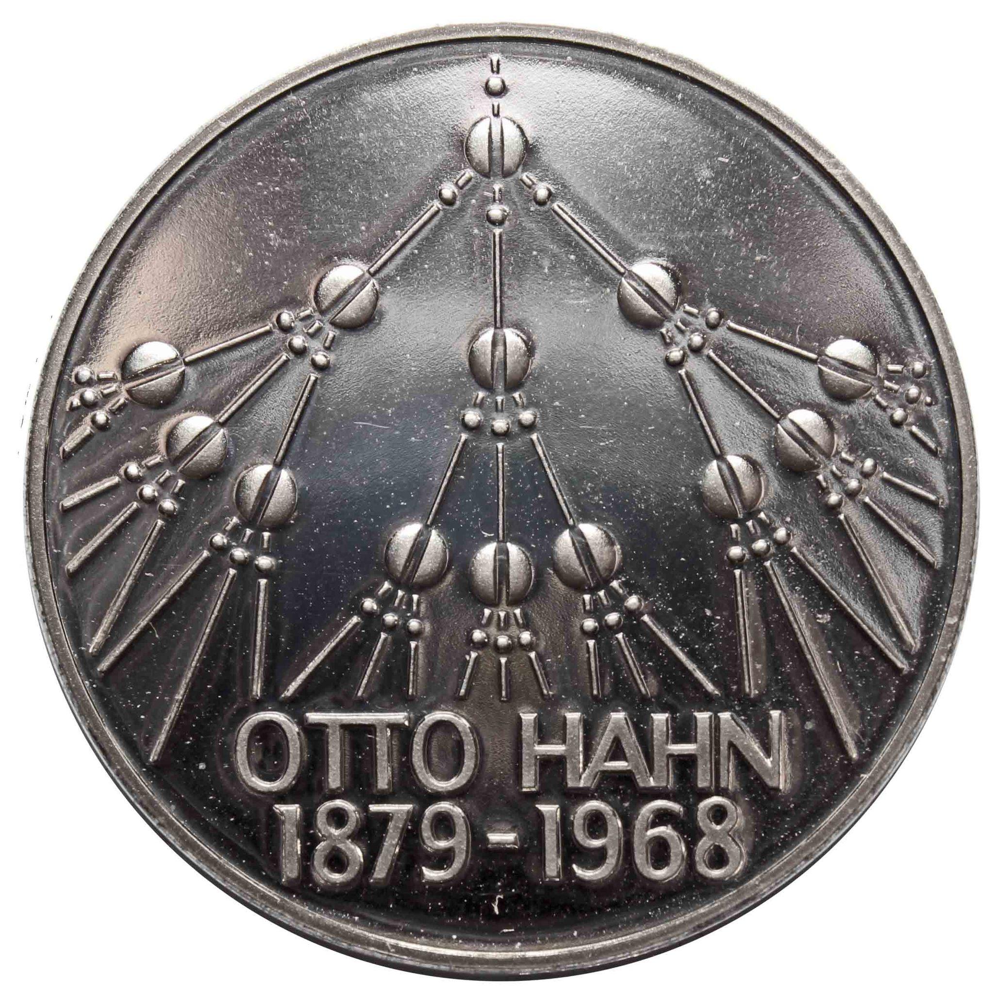 5 марок.  100 лет со дня рождения Отто Гана (G) Медноникель. 1979 г. PROOF
