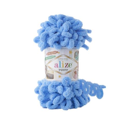Купить Пряжа Alize Puffy Код цвета 289 Голубой | Интернет-магазин пряжи «Пряха»