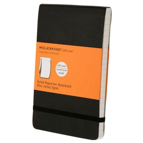 Блокнот Moleskine REPORTER SOFT QP811 Pocket 90x140мм 192стр. линейка мягкая обложка черный