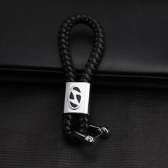Изящный брелок для ключей с кожаным ремешком Хендай (Hyundai)