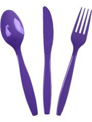Столовые приборы пласт Purple, 24шт.
