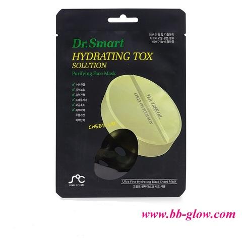 Маска для проблемной кожи с маслом чайного дерева. Dr. Smart Hydrating Tox Solution 1 шт.