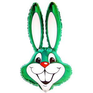 Фольгированный шар Кролик зеленый 100 X 56см