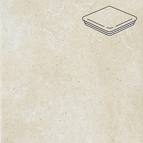 Interbau - Alpen, Bernardino/Кристальный песок 310x325x9, цвет 043 - Ступень флорентийская угловая