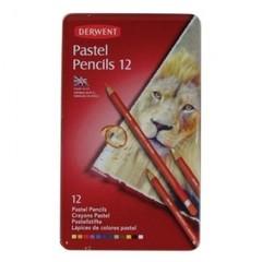 Набор карандашей пастельных Pastel 12 штук металлическая коробка