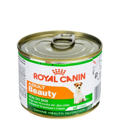 Royal Canin Adult Beauty консервы для собак для поддержания здоровья шерсти и кожи 195 г