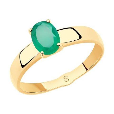 715477 - Кольцо из золота с агатом