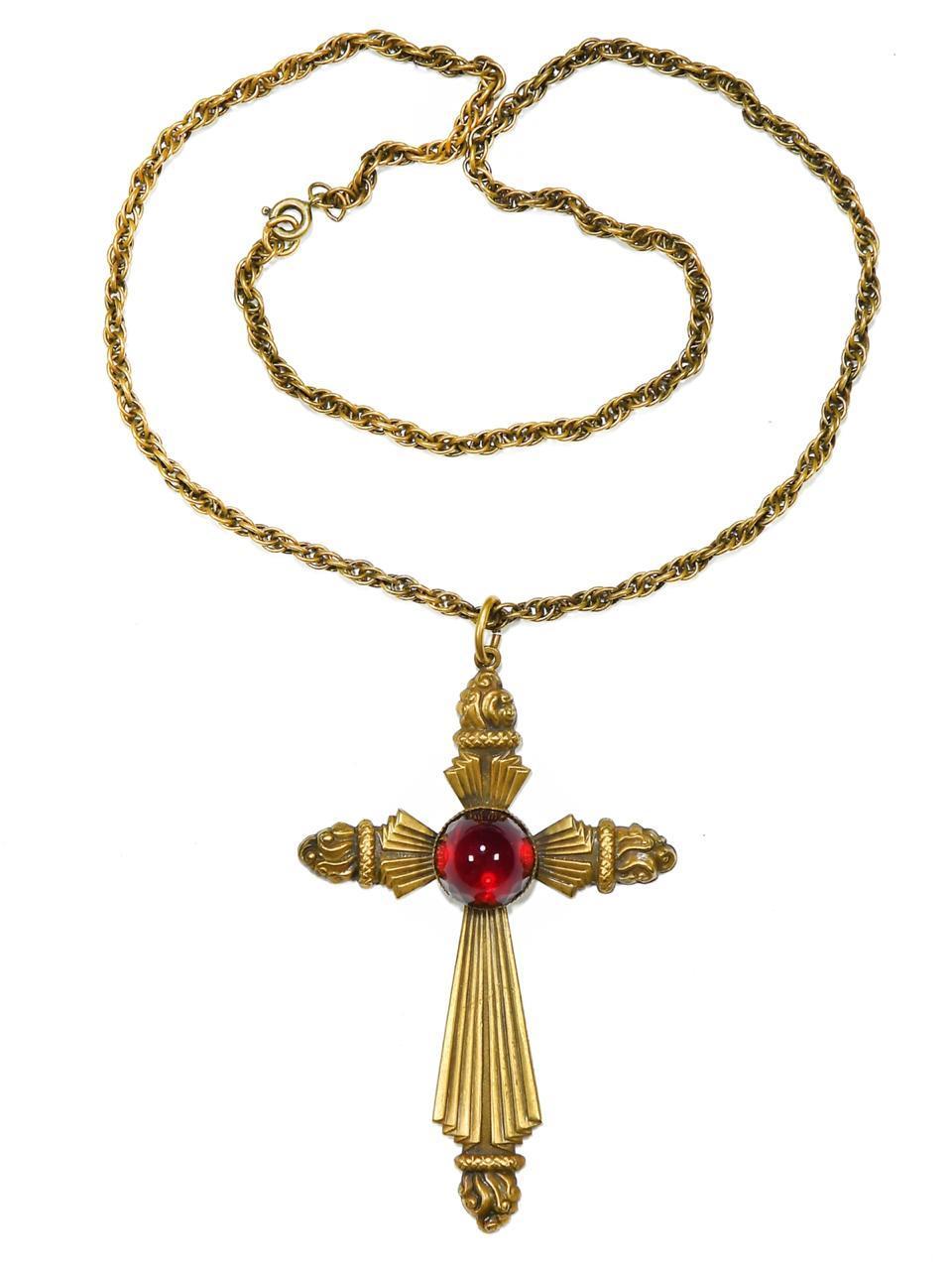 Кулон на цепи в виде креста Joseff of Hollywood