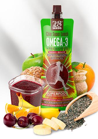 Супер-ланч ЧИА ОМЕГА-3 «Банан + Вишня» без сахара