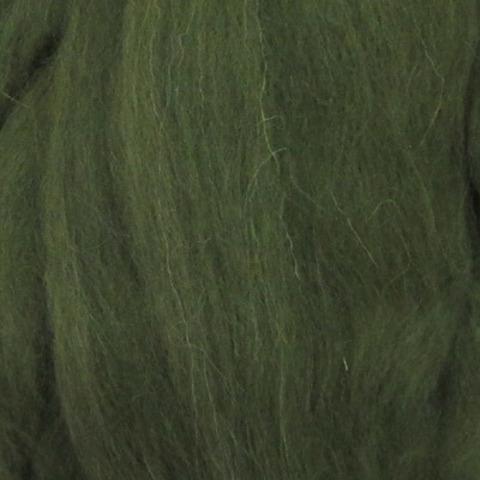 Шерсть для валяния полутонкая 13 Темно-оливковый