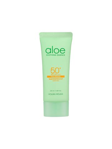 Солнцезащитный гель с алоэ увлажняющий Holika Holika Aloe Soothing Essence Face&Body Waterproof Sun Gel SPF 50+ PA ++++