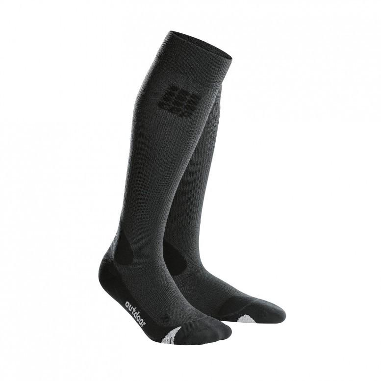 Для занятий спортом Компрессионные гольфы CEP для активного отдыха на открытом воздухе cep_outdoor_merino_socks_grey_black.jpg