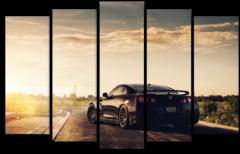 """Модульная картина """"Nissan GTR"""""""