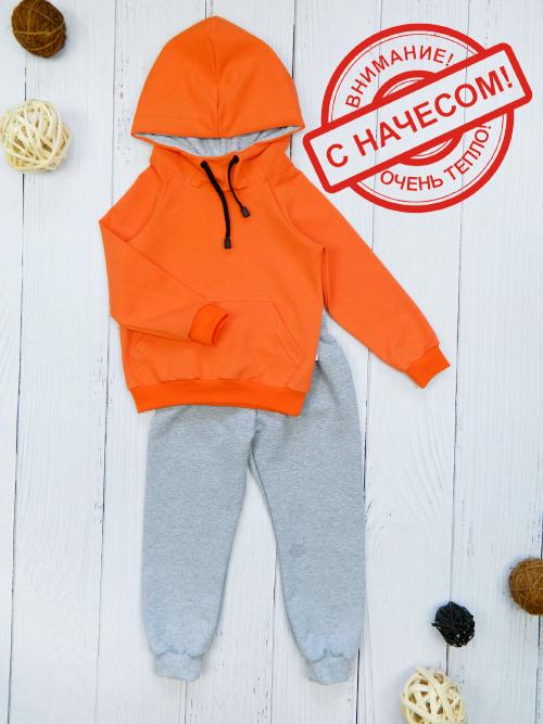 Костюм теплый 3031н, оранжево-серый