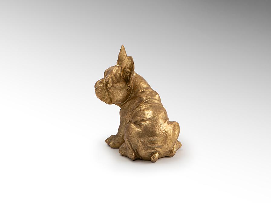 Фигурка маленькая Bull Frances золото - вид 2