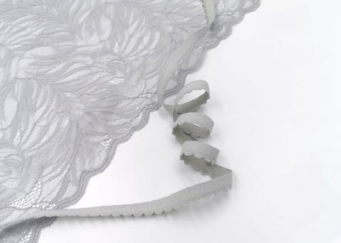 _Отделочная резинка с фестонами, 10мм, светло- серый, (Арт: OTR605/10-166), м