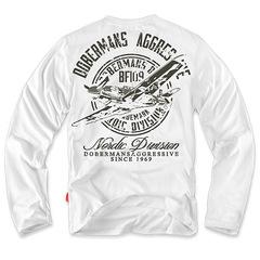 Лонгслив Dobermans Aggressive Messerschmitt, белый (LS34)