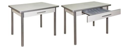 Обеденный стол с ящиком с поворотной откидной столешницей М142.83 - фото