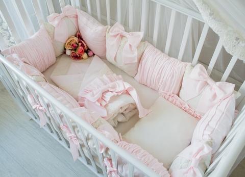 Комплект в кроватку Rose, на 4 стороны кроватки