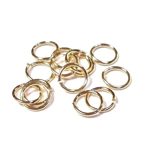 Колечки 5 мм цвет золото цена за 10 шт