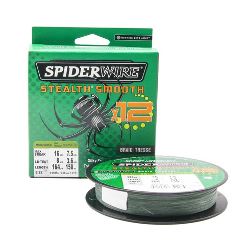 Плетеная леска Spiderwire Stealth Smooth 12 Braid Темно-зеленая 150м 0,09мм 7,5кг