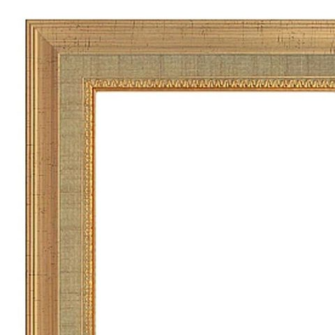 Фоторамка Ампир (с паспарту) 40х40 Формат-А (золото) (2 - 10x15 и 2 - 15x21)