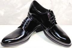 Вечерние туфли туфли под костюммужские лаковые Ikoc 2118-6 Patent Black Leather
