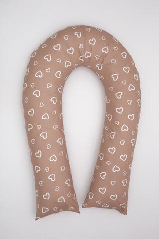Наволочка на подушку U360 10749 сердечки какао