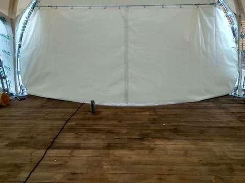 Стена ПВХ «Раздвижная» цвет - белый 6 м