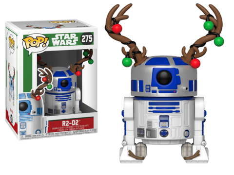 Фигурка Funko POP! Bobble: Star Wars: Holiday: R2D2 w/Antlers 33891