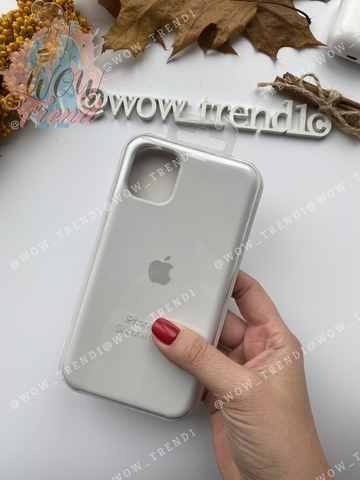 Чехол iPhone 11 Pro Max Silicone Case /white/ белый 1:1