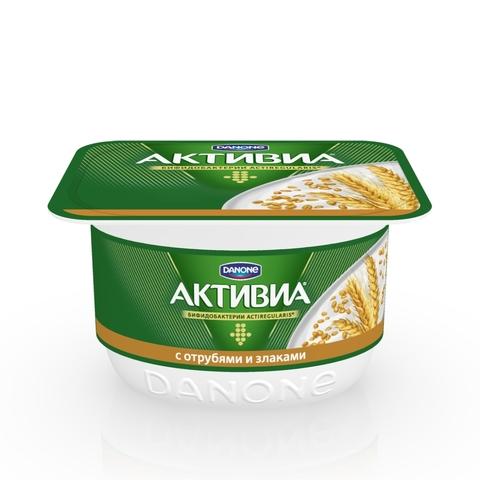 Йогурт АКТИВИЯ Творожная Отруби Злаки 130 г Danone РОССИЯ