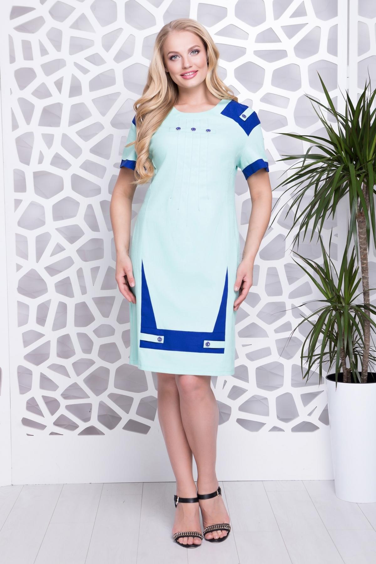 Платье Фаворит из льна (мята)