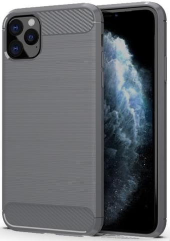 Чехол Carbon для iPhone 11 Pro Max серия Карбон | серый