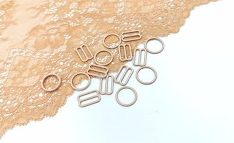 Кольца, 15мм, металл, бежевые, (Арт: KO/15-126), шт