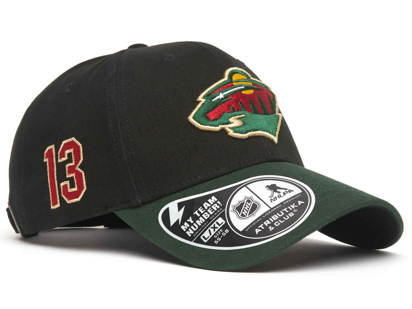 Бейсболка NHL Minnesota Wild № 13